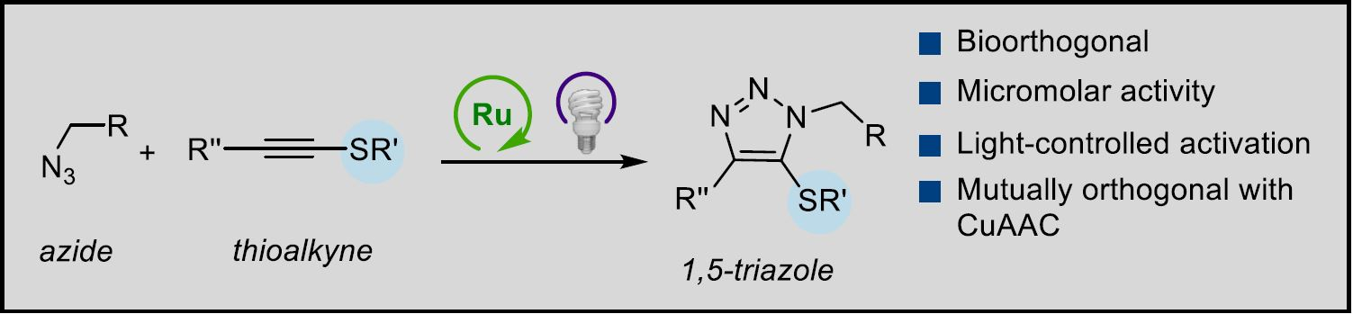 Bioorthogonal Azide‐Thioalkyne Cycloadditions Catalyzed by Photoactivatable Ru(II) Complexes